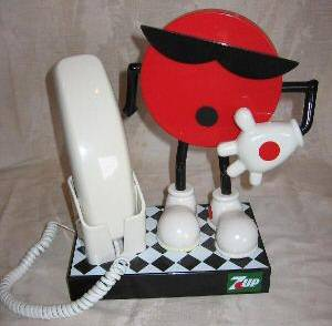 Advertising Collectibles - 7 Up Spot Telephone