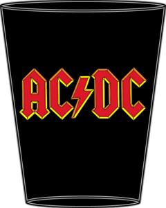 Rock and Roll Collectibles - AC/DC Heavy Metal Shot Glass - Angus Young, Bon Scott, Brian Johnson