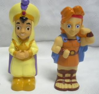Disney Movie Collectibles - Alladin and Hercules Vinyl Figures