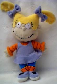 Nickelodeon Cartoon Television Character Collectibles - Rugrats - Angelica Plush Stuffed Beanie Doll