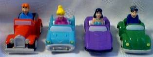 Archies Comics Collectibles - Archie, Jug Head, Betty, Veronica in Vehicles