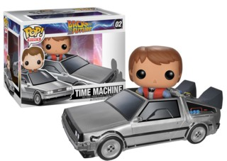 Movies from the 1980's Collectibles Back to the Future Time Machine Delorean with Marty McFly POP! Rides Vinyl Figure