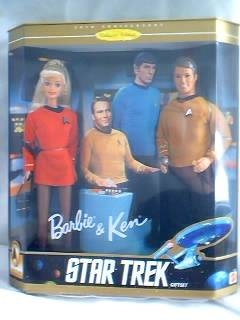 1996 Star Trek Barbie and Ken Giftset