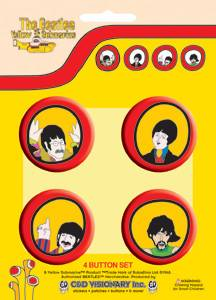 The Beatles - Pinback buttons Yellow Submarine