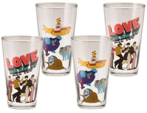 The Beatles - Collectible Yellow Submarine Pint Glasses