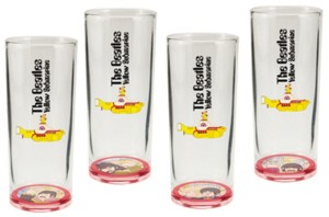 The Beatles - Collectible Yellow Submarine Glasses