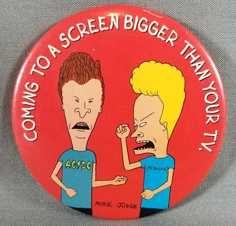 MTV's Beavis and Butthead Collectibles - Beavis and Butthead The Movie Pinback Button (MTV)