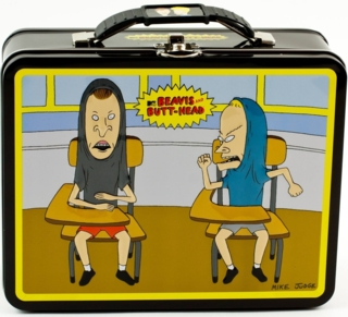 MTV's Beavis and Butthead Collectibles - Beavis and Butthead Metal Lunch Box