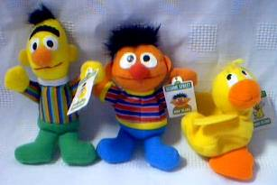 Sesame Street - Bert, Ernie and Rubber Ducky Mini Beanie