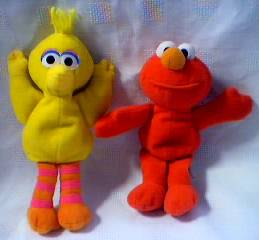 Sesame Street Elmo and Big Bird Beanie