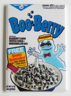 General Mills Cereal Collectibles - Monster Cereal Boo Berry Magnet