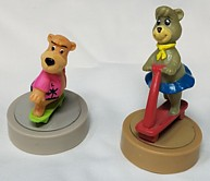 Hanna Barbera Collectibles - Boo Boo and Cindy Bear Rolling Figures Wendy's