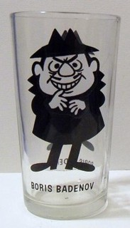 Rocky & Bullwinkle Collectibles - Boris Badenov Pepsi Collectors Series Glass