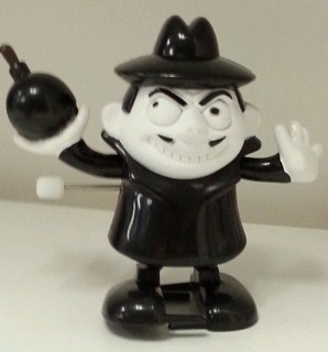 Rocky & Bullwinkle Collectibles - Boris Badenov White Knob Windup Walker