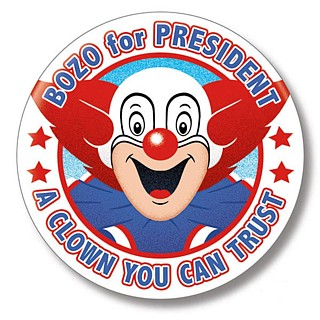 Television Character Collectibles - Bozo The Clown for President Pinback Button