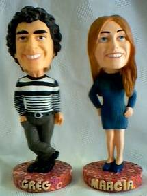 Television from the 1970's Collectibles - Brady Bunch - Marsha and Gregg Brady Bobblehead dolls, nodders