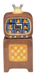 Television from the 1970's Collectibles - Brady Bunch - Brady Bunch Ceramic Salt and Pepper Shakers