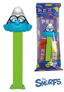 Smurf Collectibles - Brainy Smurf Pez Dispenser