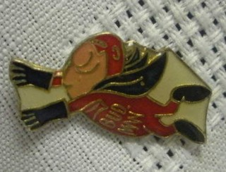 Budweiser Advertising Collectibles - Bud Man Tie Tack Lapel Pin