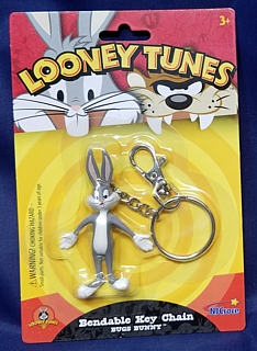 Looney Tunes Collectibles - Bugs Bunny Bendable Keyring Key Chain