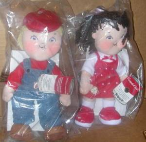 Campbells Collectibles - Campbell Kids 2004 Stuffed Plush Dolls