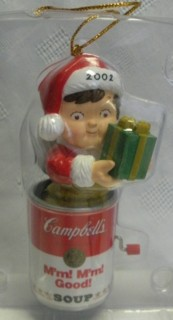 Campbells Collectibles - Campbell's Kid 2002 Christmas Ornament