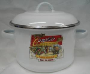 Campbells Collectibles - Campbell's Soup Enameled Covered Pot