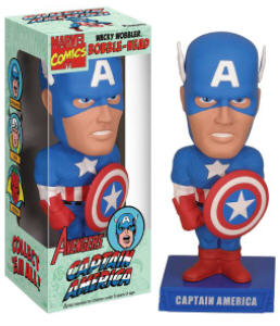 Super Hero Collectibles - Marvel Comics The Avengers - Captain America Bobblehead Doll Nodder