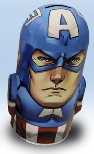 Marvel Comics Collectibles - Captain America Metal Bank