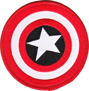 Marvel Comics Collectibles - Captain America Shield iron on Patch