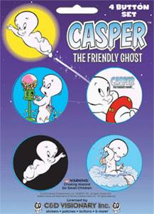 Cartoon Character Collectibles - Casper The Friendly Ghost Pinback Buttons
