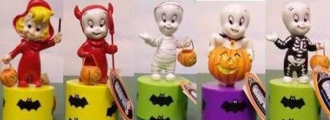 Cartoon Character Collectibles - Casper The Friendly Ghost and Wendy the Witch Wooded Push Puppets