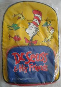 Cartoon Characters Collectibles - Doctor Seuss Cat in The Hat Book bag Back Pack