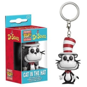 Cartoon Characters Collectibles - Doctor Seuss Cat in The Hat Keyring Key Chain