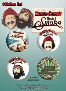 Movie Collectibles - Cheech & Chong Up in Smoke Pinback Buttons