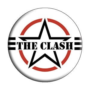 The Clash Air Force Logo Pinback Button