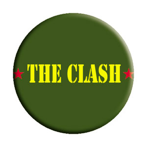 The Clash Amry Logo Pinback Button