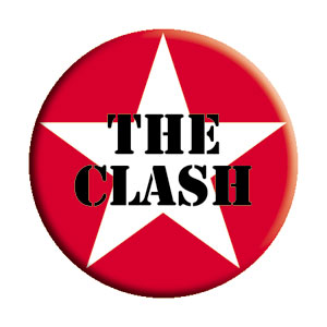 The Clash Star Logo Pinback Button