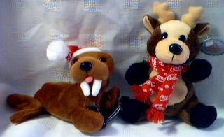 Coca-Cola Collectibles - Coke Walrus and Reindeer beanies