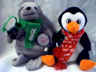Coca-Cola Collectibles - Coke Seal and Penguin Beanies