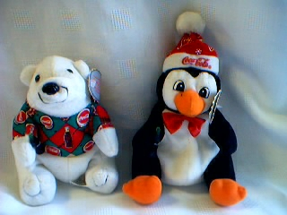 Coca-Cola Collectibles - Coke Penguin and Bear Beanies