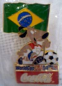 Coca-Cola Collectibles - Coke World Cup 1994 Soccer Tie Tack Pin