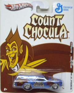 General Mills Cereal Collectibles - Count Chocula Hot Wheels Diecast Car