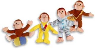 Television Character Collectibles - Curious George Plush Finger Puppets