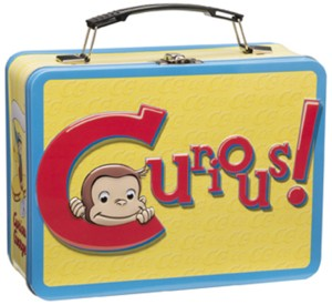 Television Character Collectibles - Curious George Metal Lunchbox Tote