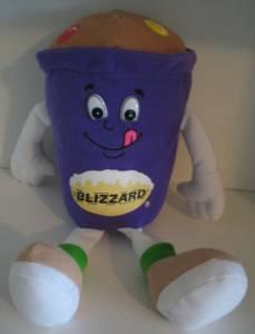 Fast Food Collectibles - Dairy Queen Blizzard Plush