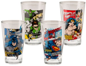 DC Comics Justice League Collectible Character Pint Glasses