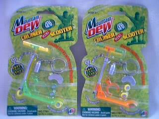 Mountain Dew Collectibles - Mountain Dew Mini Finger Scooter Keychain
