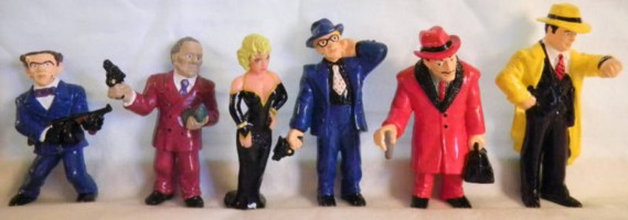 Movie and Comic Strip Character Collectibles - Dick Tracy, Breathless Mahoney, Big Boy, Flat Top, Itchy, Prune Face PVC Figures