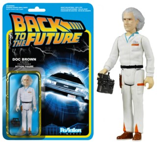 80's Movie Collectibles - Back to the Future Doc Emmet Brown ReAction Figure